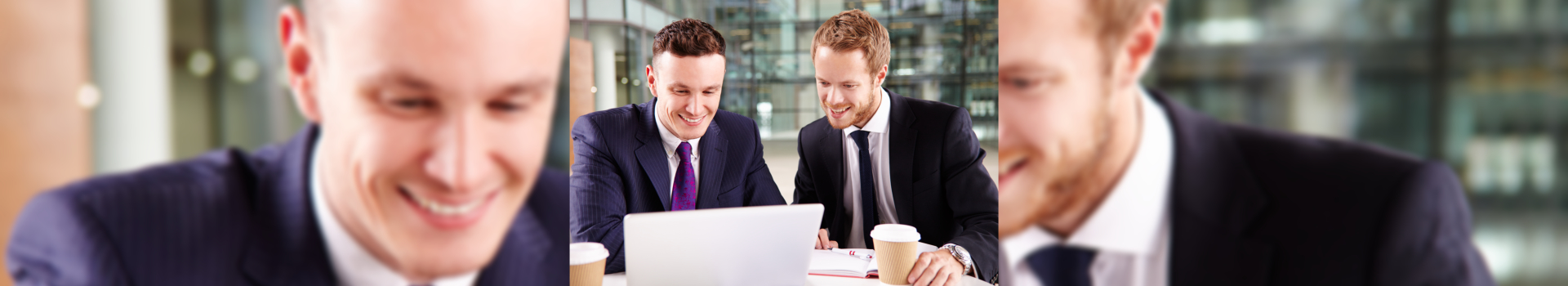 young businessmen using a laptop